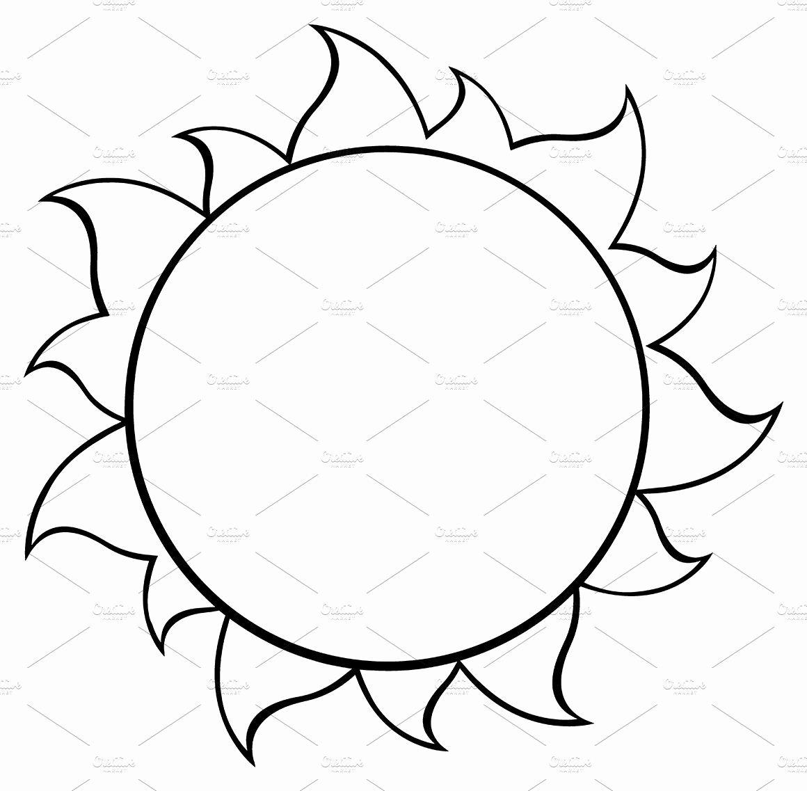 Black and White Illustrations Luxury Black and White Simple Sun Illustrations Creative Market