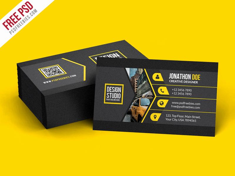 Blank Business Card Template Psd Beautiful Creative Black Business Card Template Psd