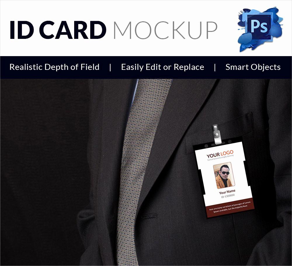 Blank Business Card Template Psd Unique Editable Blank Psd Id Card Mockup