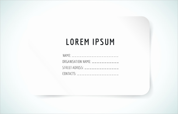 Blank Business Card Template Word Fresh 44 Free Blank Business Card Templates Ai Word Psd