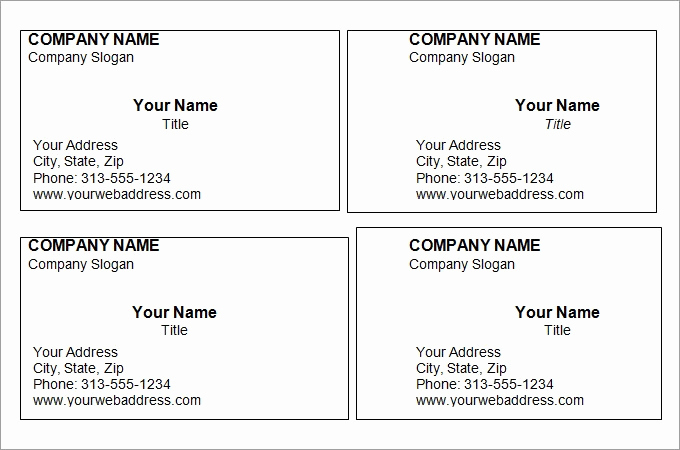 Blank Business Card Template Word Inspirational Business Card Template Word
