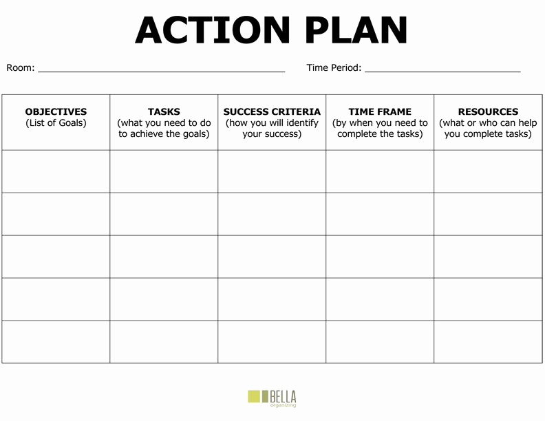 Blank Business Plan Template Word Awesome Action Plan Template