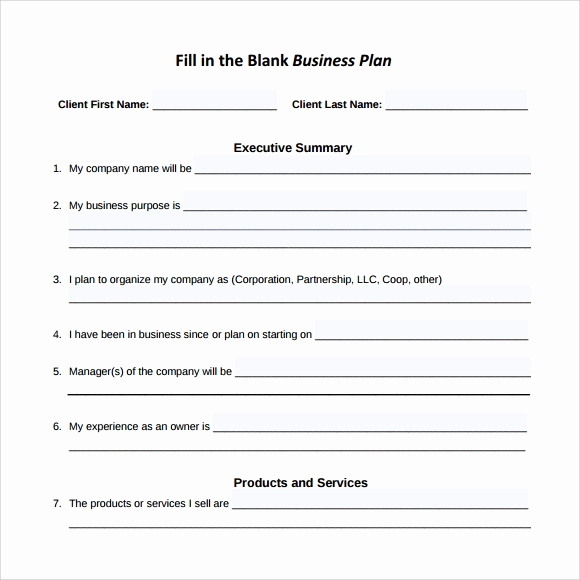 Blank Business Plan Template Word Beautiful Sample Small Business Plan 18 Documents In Pdf Word