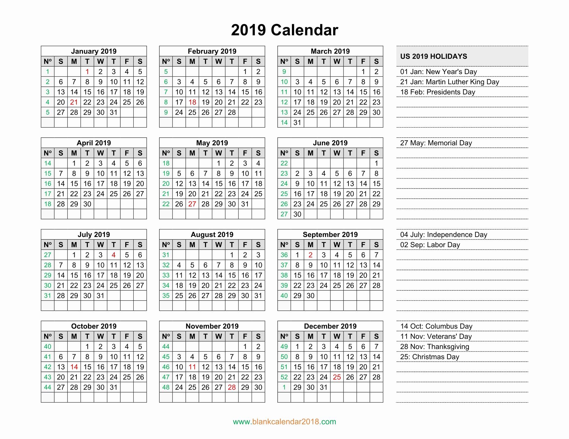 Blank Calendar Template 2019 Best Of Blank Calendar 2019