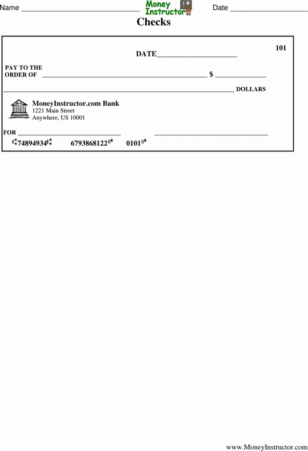 Blank Check Template Pdf Awesome Download Printable Blank Check Template Pdf format for