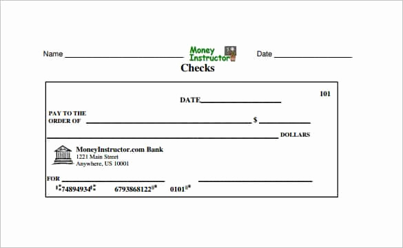 Blank Check Template Pdf Beautiful 24 Blank Check Template Doc Psd Pdf & Vector formats