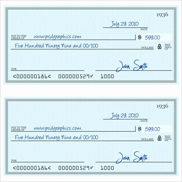 Blank Check Template Pdf New 43 Cheque Templates Free Word Excel Psd Pdf formats