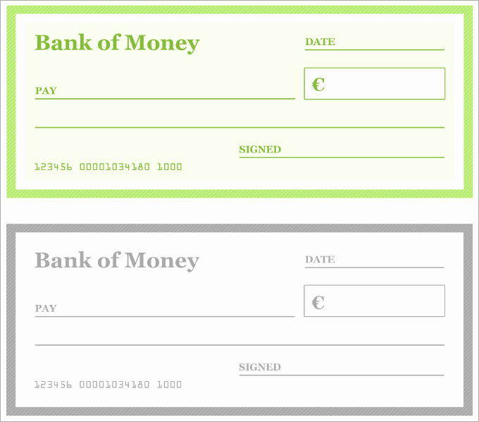 Blank Check Template Pdf Unique Blank Check Template – 30 Free Word Psd Pdf & Vector
