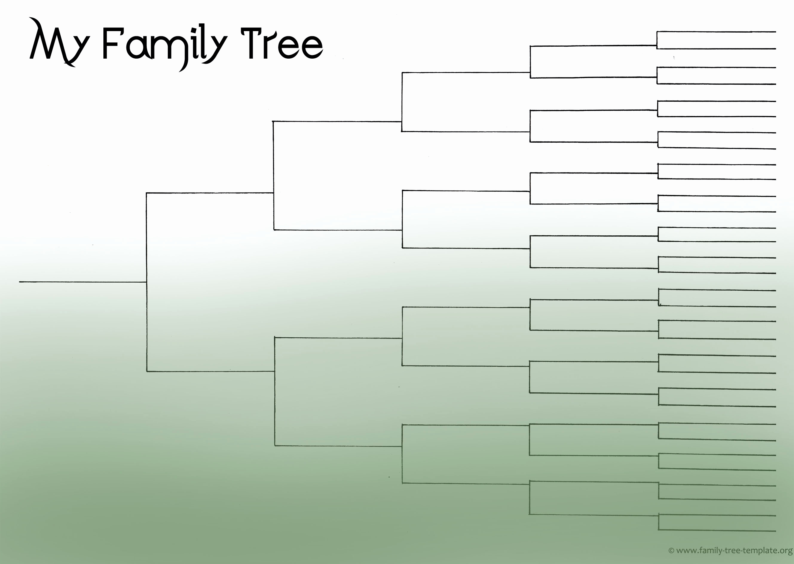 Blank Family Tree Chart Awesome Family Tree Template Resources