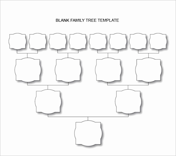 Blank Family Tree Chart New Blank Family Tree Chart 6 Free Excel Word Documents