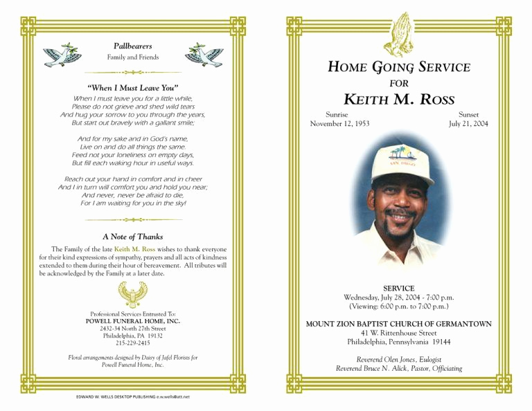Blank Funeral Program Template Awesome Blank Funeral Program Template Best Photos Of Free Funeral