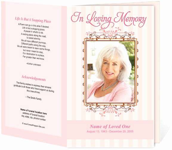 Blank Funeral Program Template Best Of Seraphina Preprinted Title Letter Single Funeral Programs