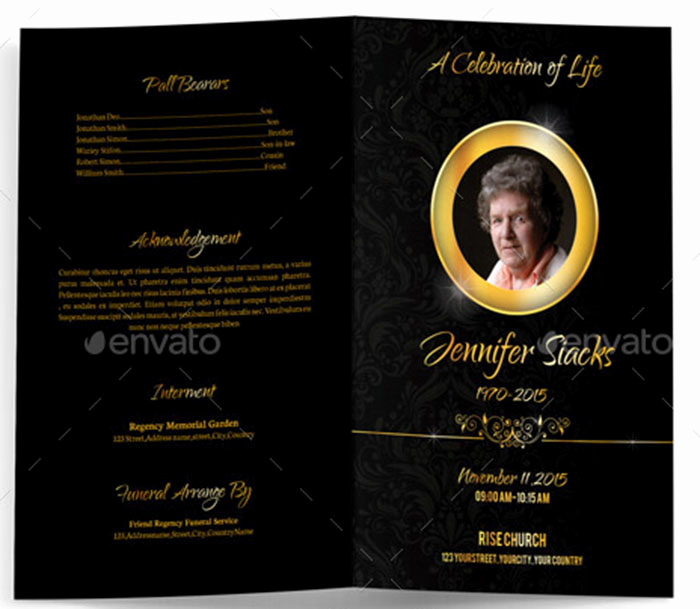 Blank Funeral Program Template Fresh 9 Obituary Template – Free Pdf Psd Word format Download