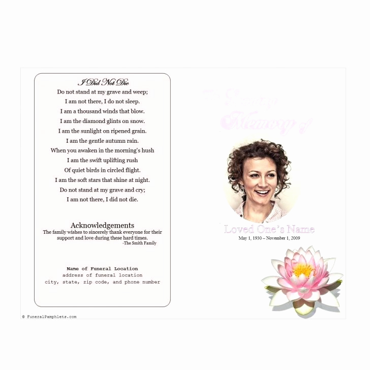 Blank Funeral Program Template Fresh Free Printable Memorial Service Programs Image – Memorial
