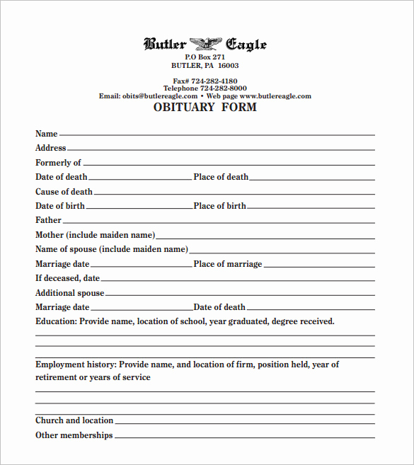 Blank Funeral Program Template Lovely Funeral Obituary Template 25 Free Word Excel Pdf Psd