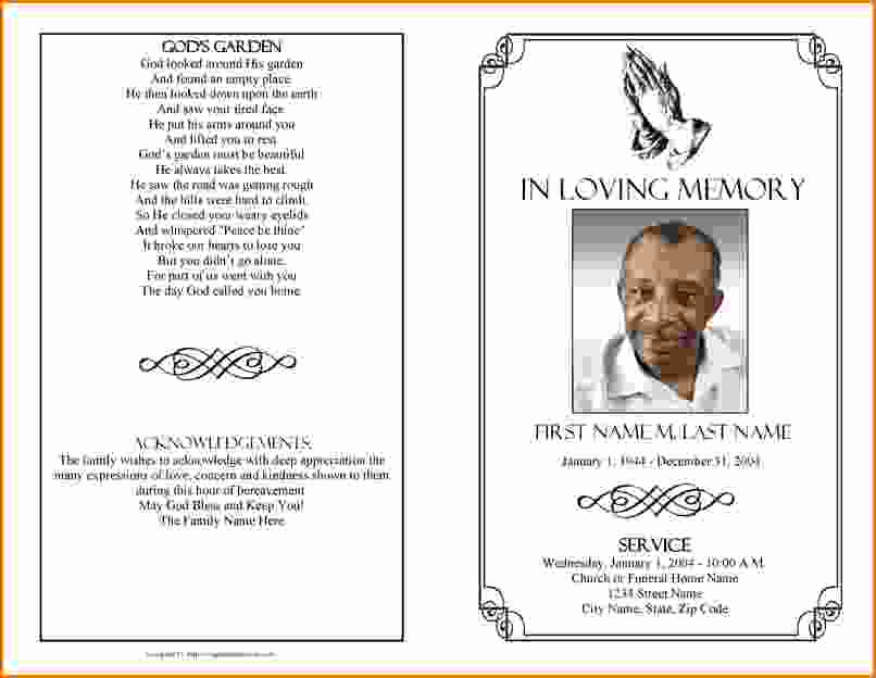 Blank Funeral Program Template Lovely Memorial Service Program Template Microsoft Word