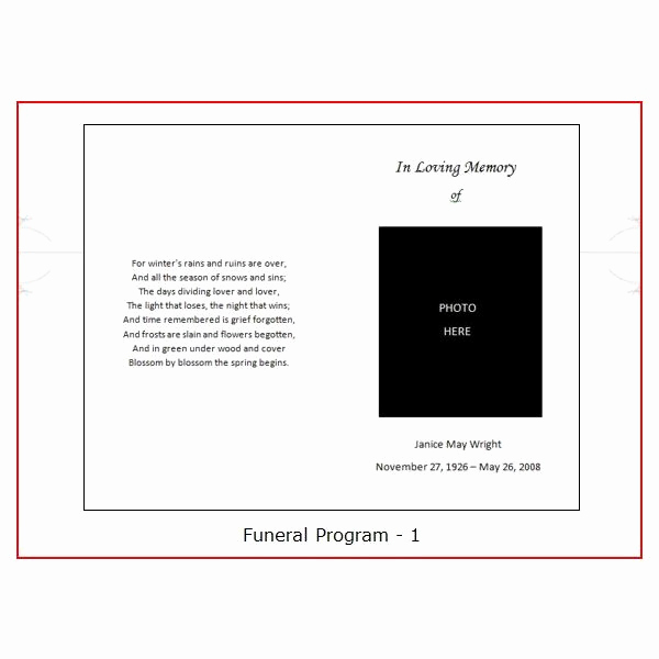 Blank Funeral Program Template Lovely Six Resources to Find Free Funeral Program Templates to