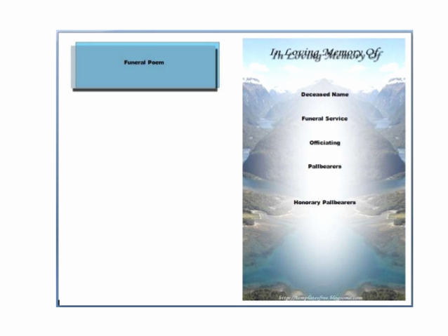 Blank Funeral Program Template New Free Printable Funeral Program Template for Word to Download