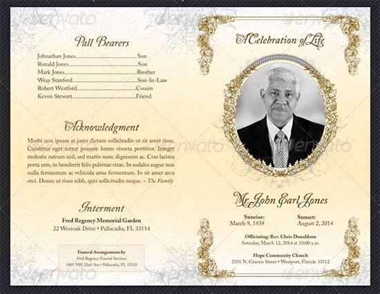 Blank Funeral Program Template New Funeral Program Template 30 Download Free Documents In