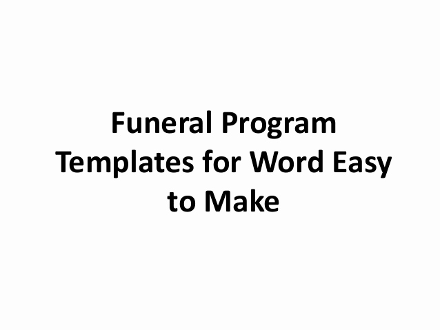Blank Funeral Program Template Unique Free Printable Funeral Program Template for Word to Download