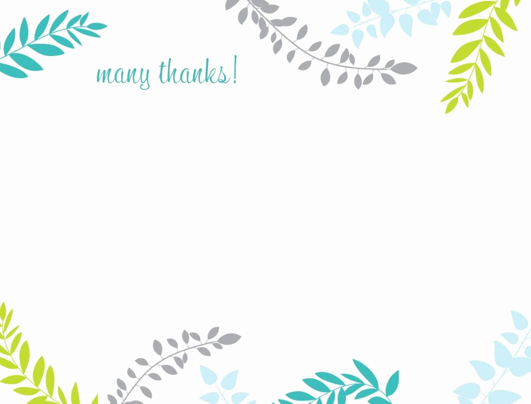 Blank Greeting Card Template Awesome Printable Thank You Card Template