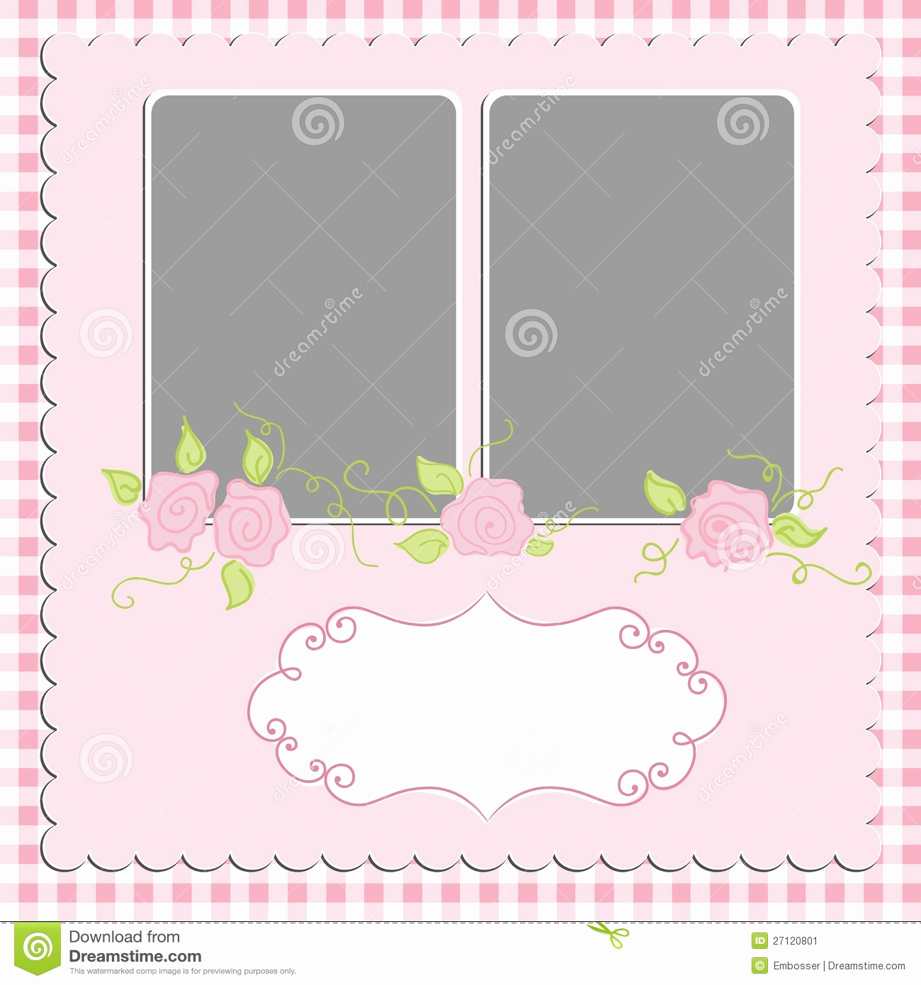 Blank Greeting Card Template Elegant Blank Template for Greetings Card Stock Image Image
