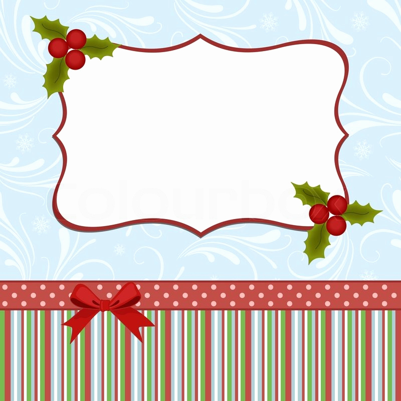 blank template for christmas greetings card postcard or photo farme vector
