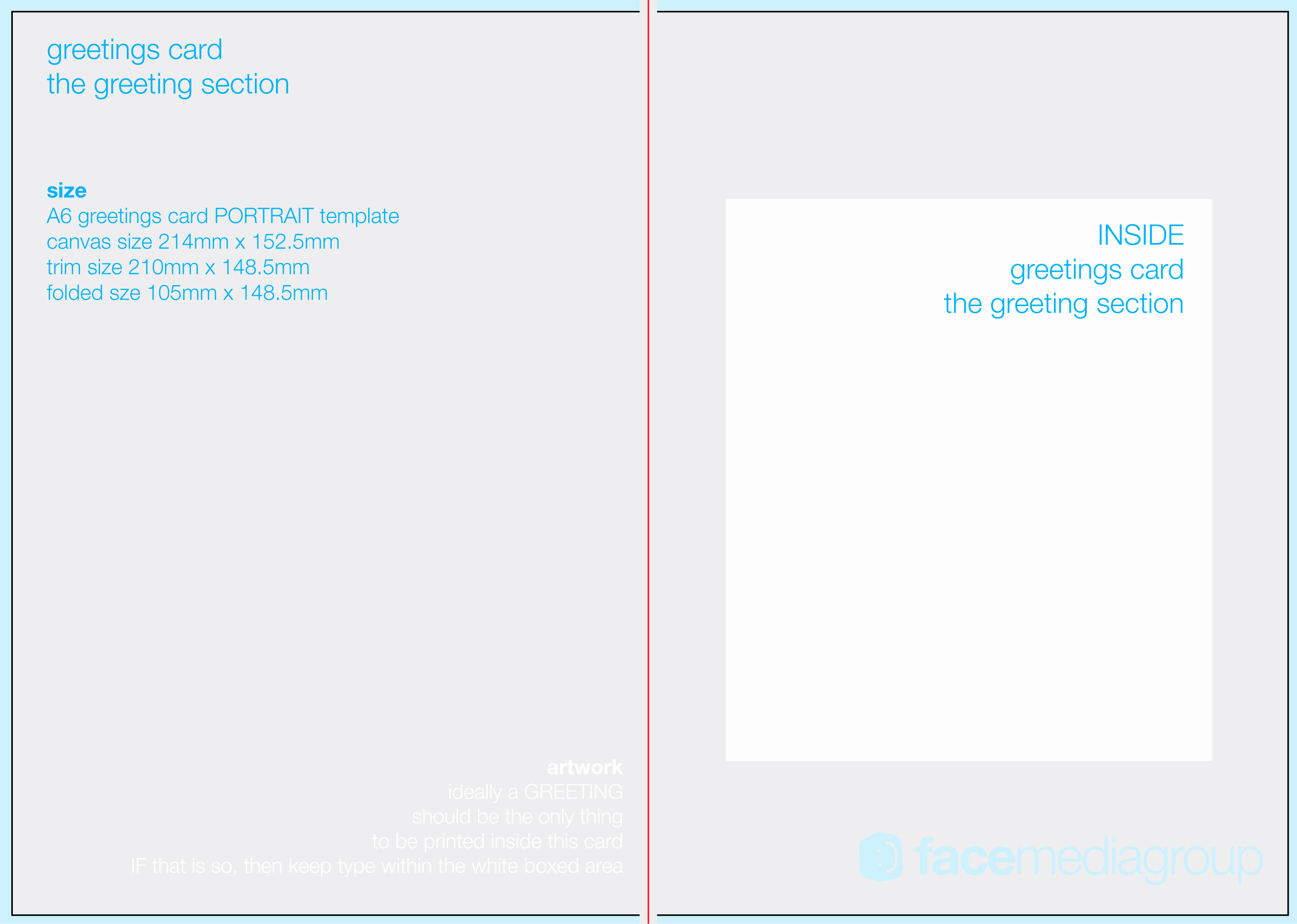 Blank Greeting Card Template Unique Free Blank Greetings Card Artwork Templates for Download