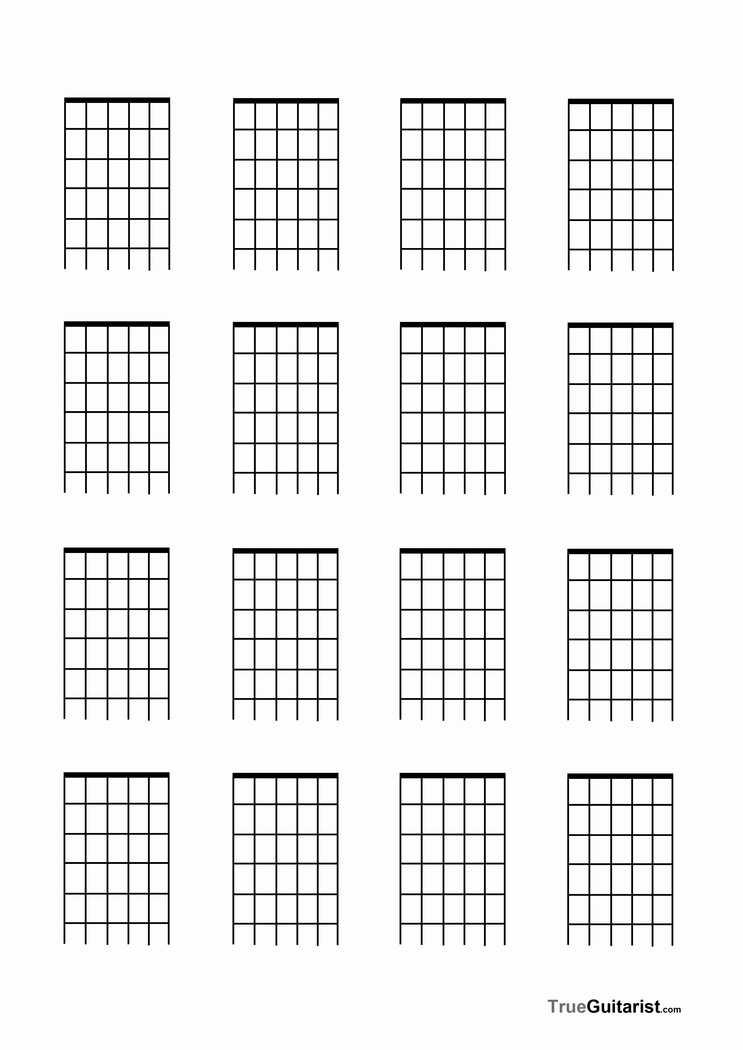 Blank Guitar Tab Pdf Awesome Blank Chord Chart Pdf