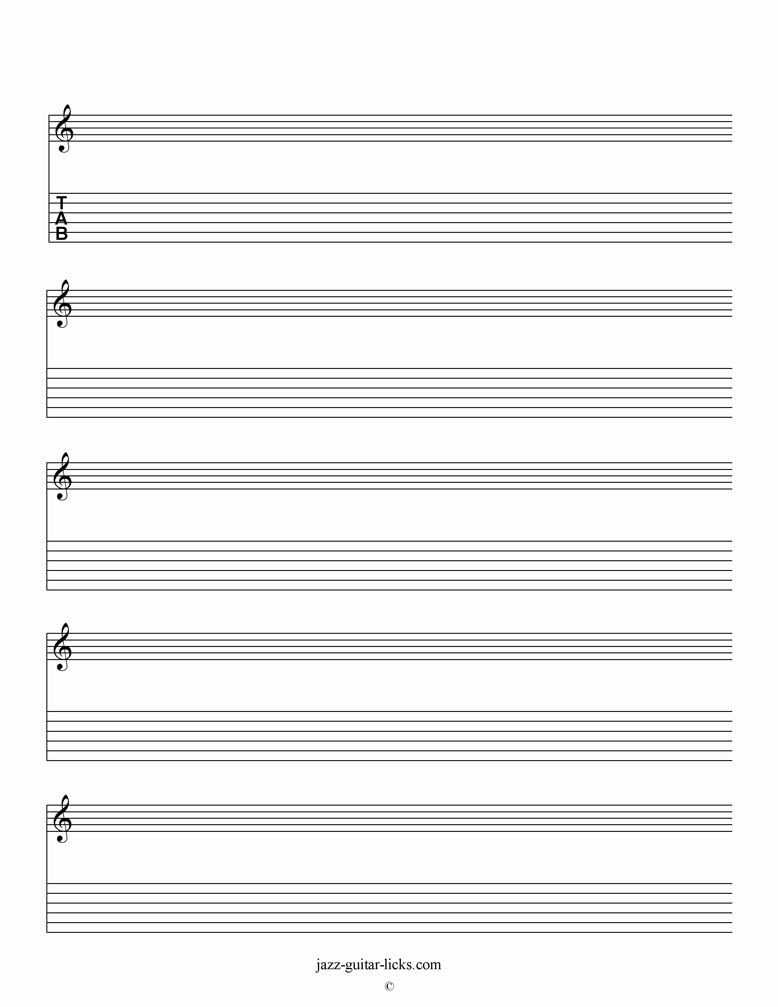 Blank Guitar Tab Pdf Best Of Printable Blank Staves and Tabs Free Music Sheet
