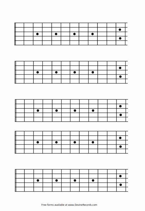 Blank Guitar Tab Pdf Unique Blank Guitar Fretboard 12 Fret Inerecords