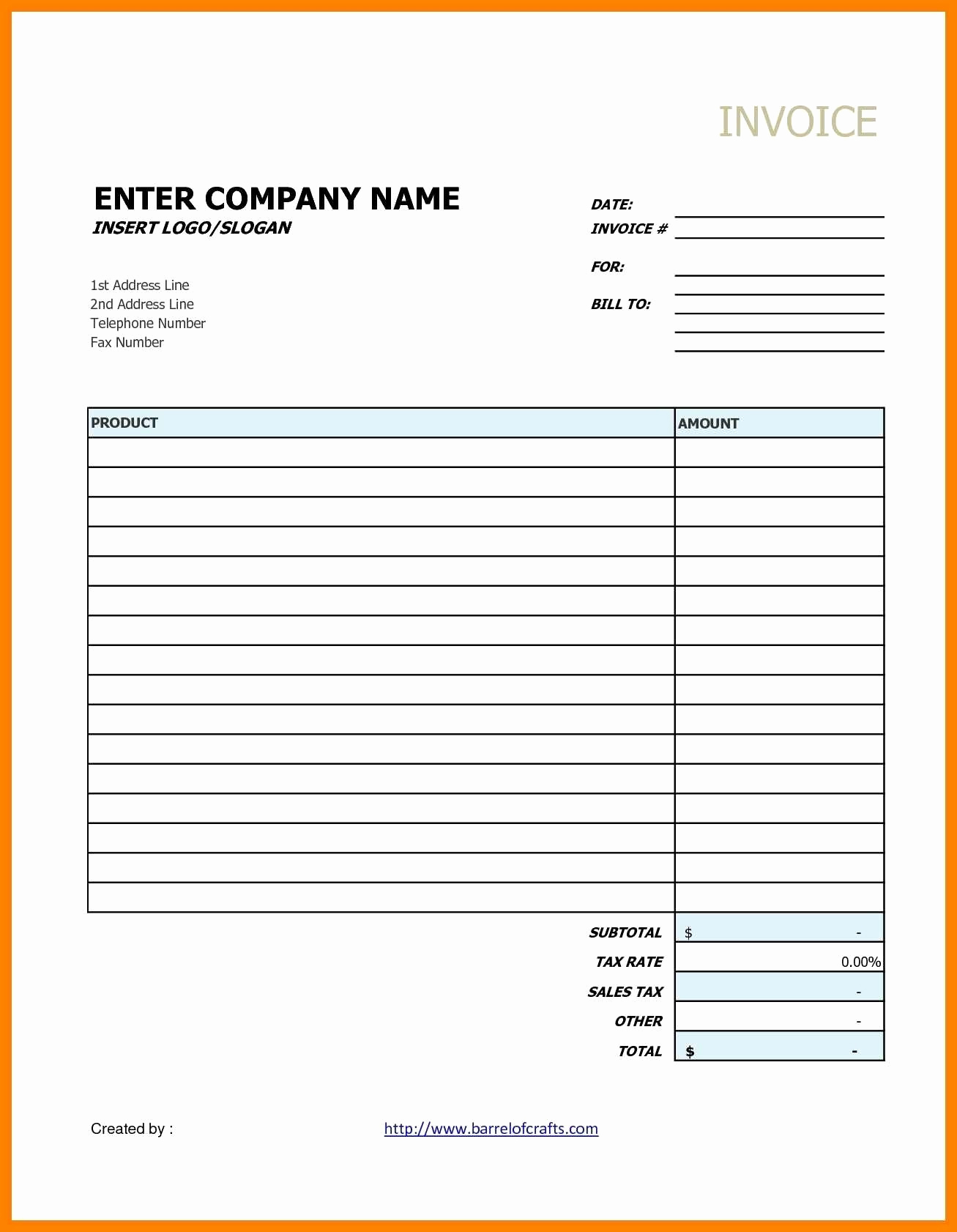 Blank Invoice Template Google Docs Awesome Invoice Template Google Docs Editable Free Download