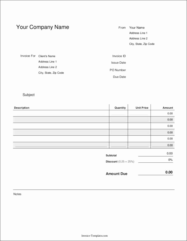 Blank Invoice Template Google Docs Best Of Elements that You Need to Include In Your Invoice