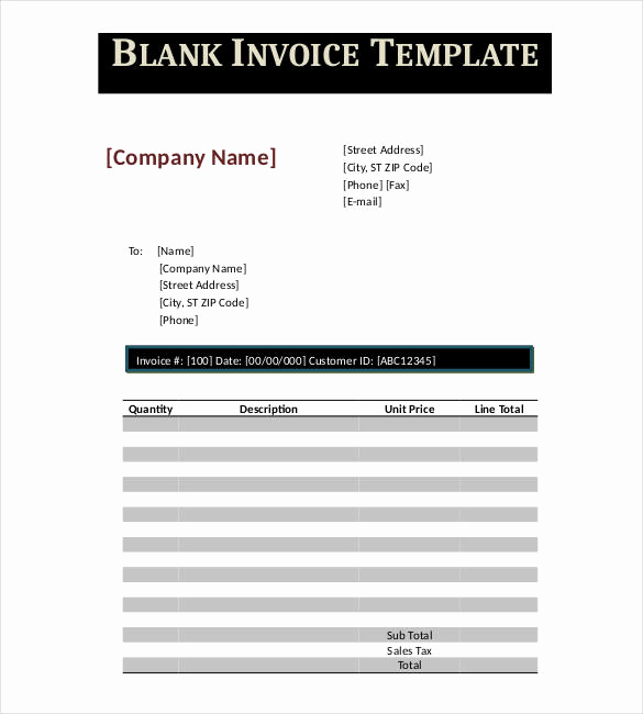Blank Invoice Template Google Docs Best Of Google Invoice Template 25 Free Word Excel Pdf format