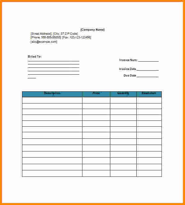 Blank Invoice Template Google Docs Inspirational Blank Invoice Template Google Docs