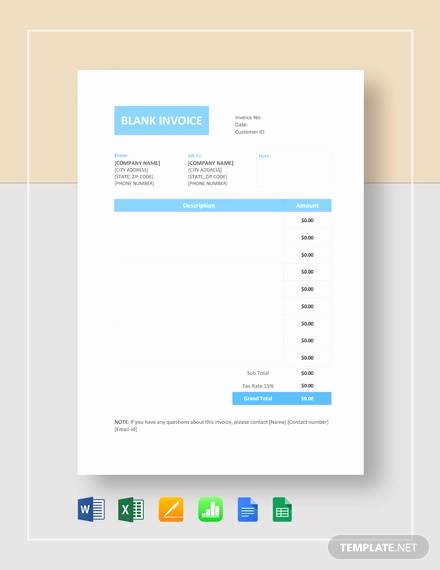 Blank Invoice Template Google Docs New 54 Blank Invoice Template Word Google Docs Google Sheets