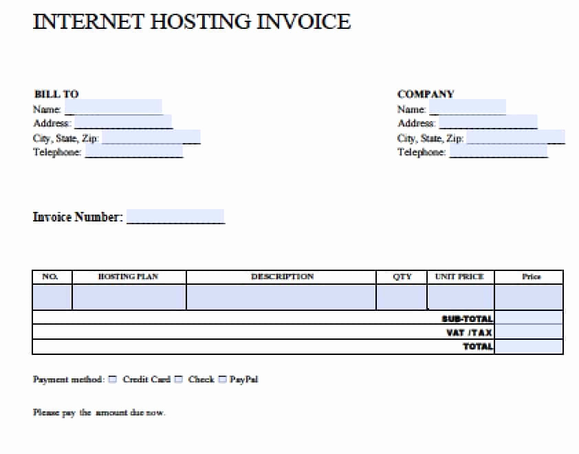 Blank Invoice Template Pdf Awesome 5 Free Blank Invoice Template Appeal Leter