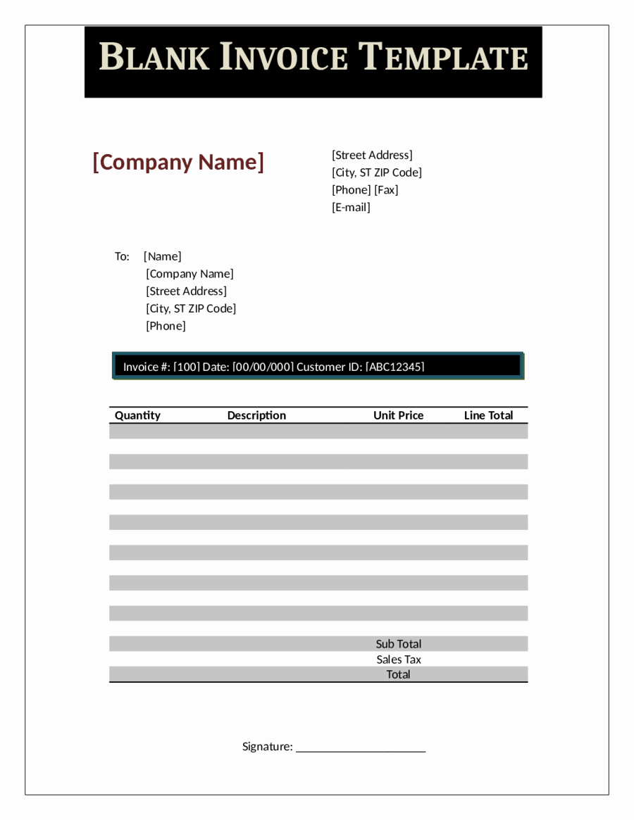 Blank Invoice Template Pdf Beautiful 2019 Proforma Invoice Fillable Printable Pdf & forms