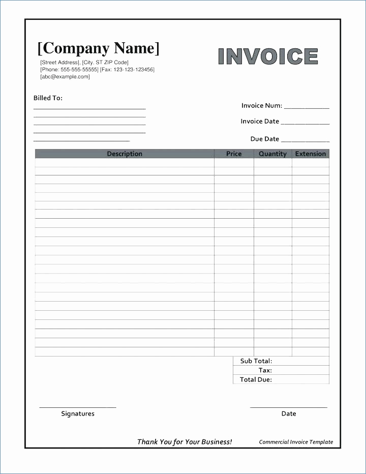 Blank Invoice Template Pdf Fresh Fillable Invoice Template Pdf
