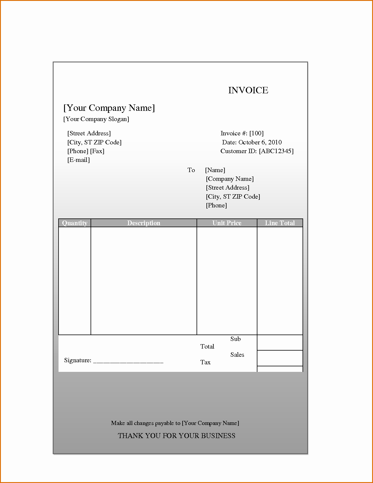 Blank Invoice Template Pdf Lovely 8 Blank Invoice Template Pdf