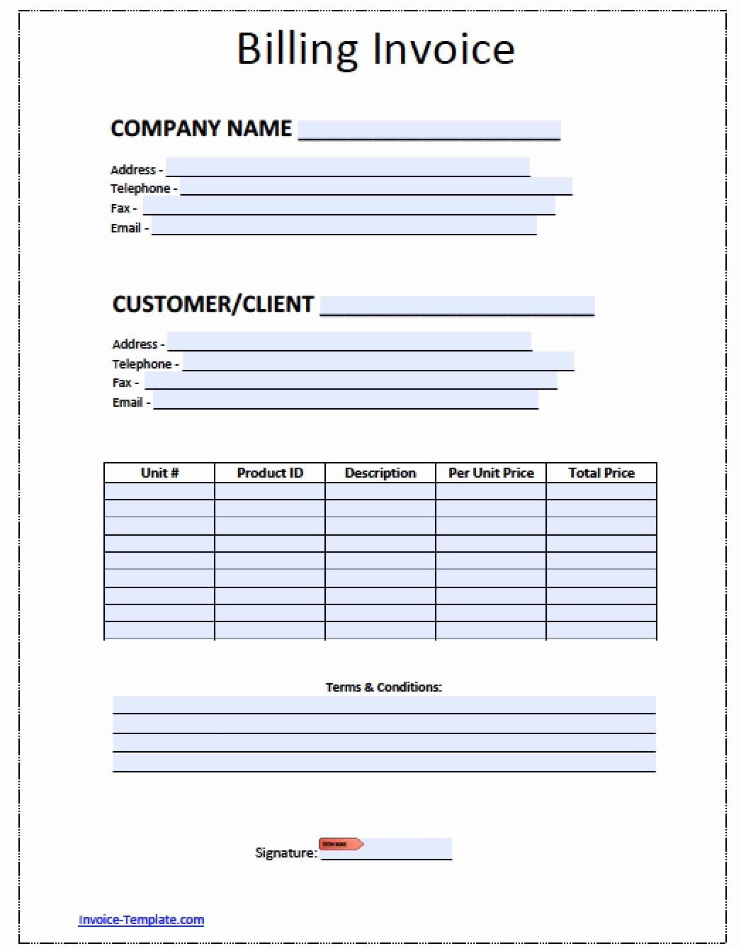 Blank Invoice Template Pdf Lovely Blank Invoice Template