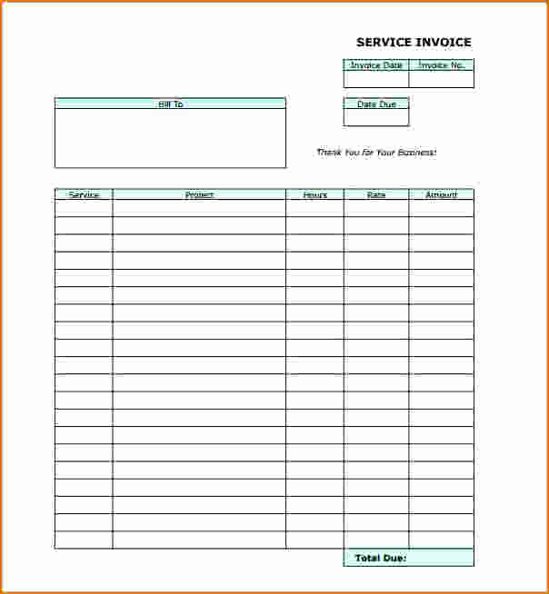 Blank Invoice Template Pdf Luxury 6 Blank Invoice Template Pdf
