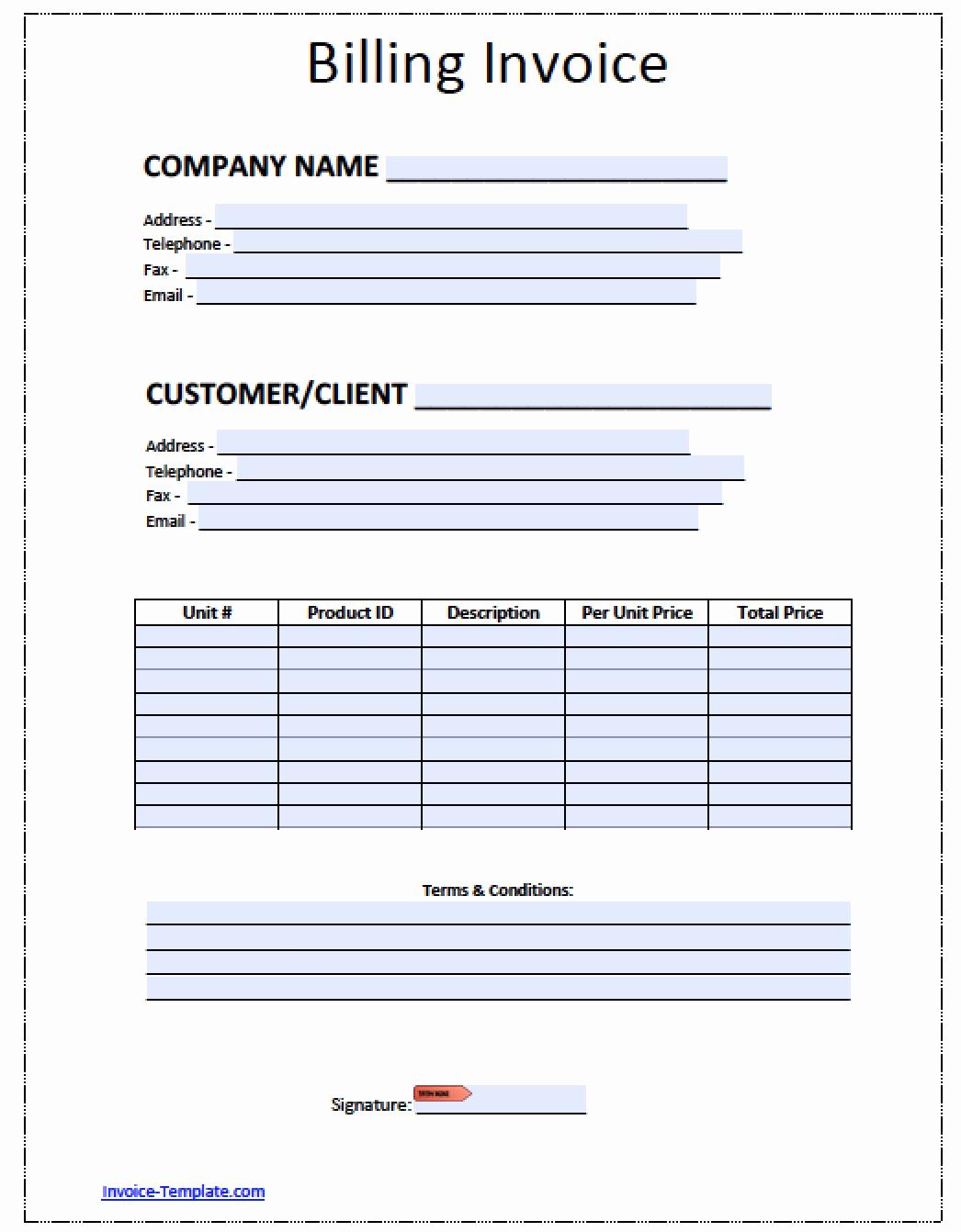 Blank Invoice Template Word Luxury Billing Invoice Template Download Free Blank Invoice