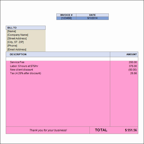 Blank Invoice Template Word New 15 Word Invoice Templates