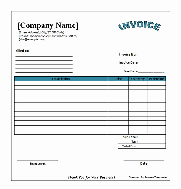 Blank Invoice Template Word Unique 54 Blank Invoice Template Word Google Docs Google Sheets