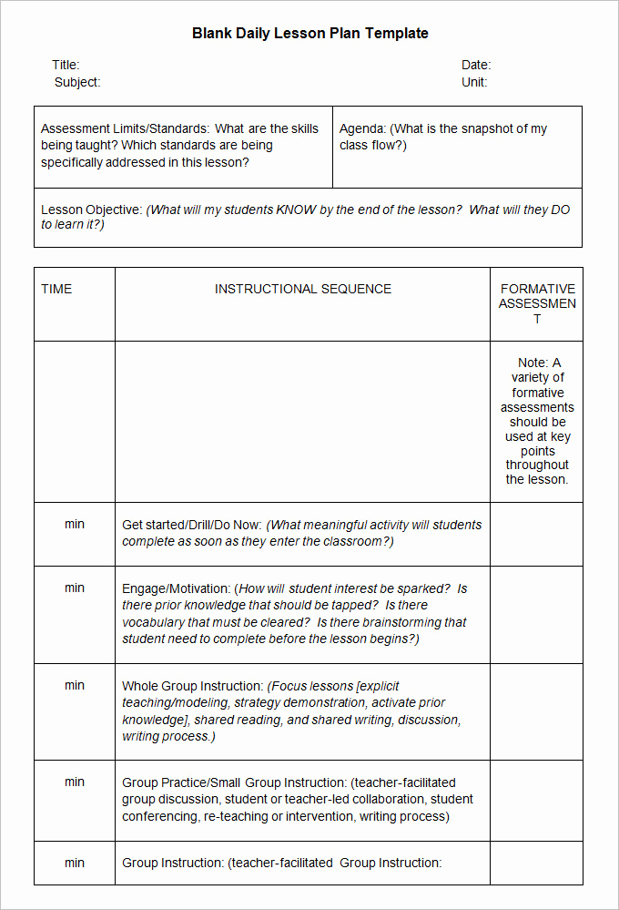 Blank Lesson Plan Template Pdf Awesome Blank Lesson Plan Template 3 Free Word Documents