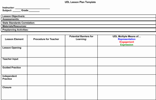 Blank Lesson Plan Template Pdf Fresh Modules Addressing Special Education and Teacher Education