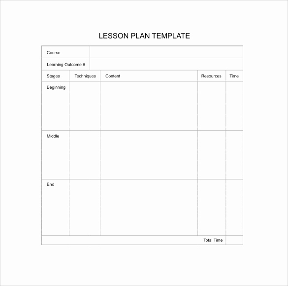 Blank Lesson Plan Template Pdf Inspirational 11 Sample Blank Lesson Plans