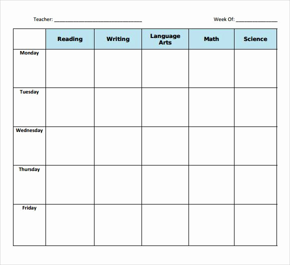 Blank Lesson Plan Template Pdf Lovely the 25 Best Blank Lesson Plan Template Ideas On Pinterest