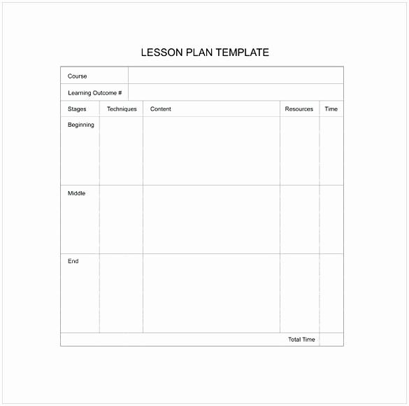 Blank Lesson Plan Template Pdf Luxury Blank Lesson Plan Template Pdf